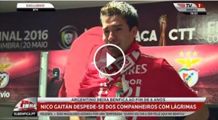 Nico Gaitán despediu-se em LÁGRIMAS dos colegas!